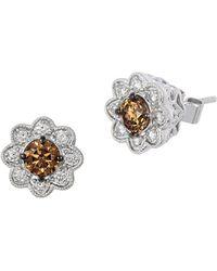 Le Vian - 14k Vanilla Gold Vanilla Diamonds & Chocolate Diamonds Flower Earrings - Lyst