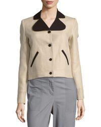 Carven - Long-sleeve Linen Jacket - Lyst