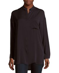 Max Mara - Tilde Solid Silk Shirt - Lyst