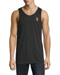 Riot Society - Embroidered Cotton Tank Top - Lyst