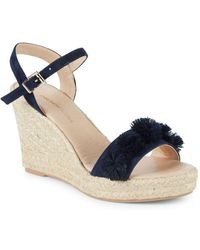 Saks Fifth Avenue - Suede Espadrille Wedge Sandals - Lyst