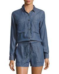 Rails - Spread Collar Chambray Jumpsuit - Lyst