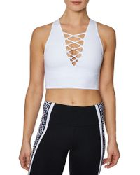 Betsey Johnson - Strappy Sports Bra - Lyst