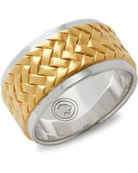 Effy - .925 Sterling Silver Solid Fill Band Ring - Lyst