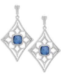Armenta - New World Diamond & Kyanite Drop Earrings - Lyst