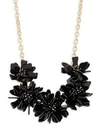 Natasha Couture - Crystal Floral Statement Necklace - Lyst