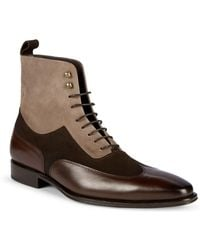 Mezlan - 18769 Leather & Suede Wingtip Boots - Lyst