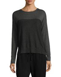 Eileen Fisher - Long-sleeve Box Sweater - Lyst