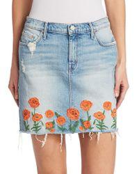 Mother - Denim Mini Skirt - Lyst