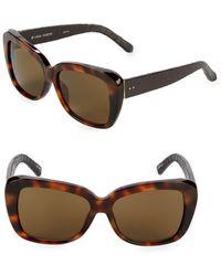 3258b9906f3 Lyst - Linda Farrow Snake-embossed Arm 57mm Aviator Sunglasses in ...