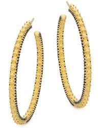 Freida Rothman - Spiked Hoop Earrings - Lyst