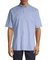 Bugatchi - Paisley Cotton Short-sleeve Shirt - Lyst