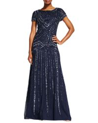 Adrianna Papell - Sequin Embellished Gown - Lyst