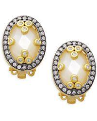 Freida Rothman - Mirror Mirror Sterling Silver & Mother-of-pearl Clip Earrings - Lyst