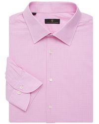 Ike Behar - Regular-fit Shadow Glen Plaid Dress Shirt - Lyst