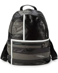 Armani - Leather Contrast Backpack - Lyst