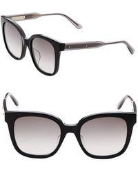 Bottega Veneta - 52mm Rectangle Sunglasses - Lyst