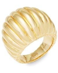 John Hardy - Yellow Gold Ridge Band Ring - Lyst