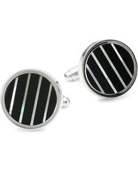 Saks Fifth Avenue - Mother-of-pearl And Onyx Cufflinks - Lyst