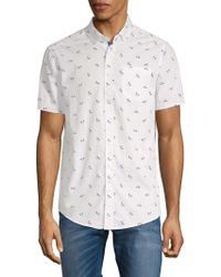 Report Collection - Bicycle-print Cotton Button-down Shirt - Lyst