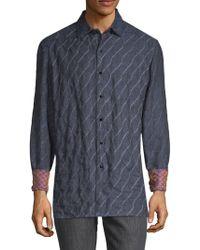Robert Graham - Printed Linen Button-down Shirt - Lyst