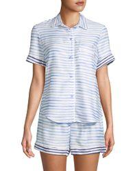 Jane And Bleecker - Two-piece Striped Shorty Pyjama Set - Lyst