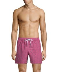 Jared Lang - Printed Swim Shorts - Lyst