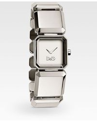 Dolce & Gabbana - Faceted Stainless Steel Bracelet Watch/silver - Lyst