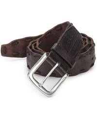 John Varvatos - Pick-stitch Leather Belt - Lyst