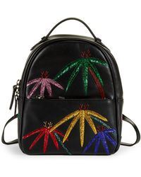 Les Petits Joueurs - Mick Palms Embroidered Leather Backpack - Lyst