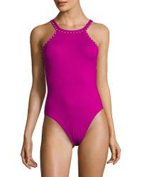 La Blanca - High Cut Hip One-piece Swimsuit - Lyst