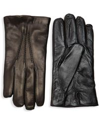 Saks Fifth Avenue - Touch Tech Leather Gloves - Lyst