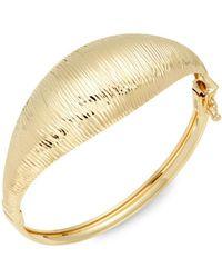 Saks Fifth Avenue - Textured 14k Yellow Gold Bangle Bracelet - Lyst