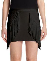 Torn - Phyllis Fringe Mini Skirt - Lyst