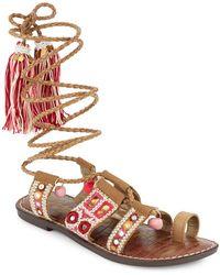 Sam Edelman - Gretchen Leather-blend Sandals - Lyst