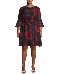 ABS By Allen Schwartz - Plus Floral A-line Dress - Lyst