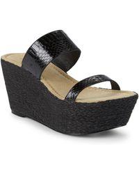 Elizabeth and James - Boca Snake Strap Wedge Sandals - Lyst