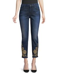 7 For All Mankind - Rose Studded Skinny Jeans - Lyst