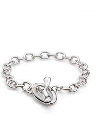 Saks Fifth Avenue - Sterling Silver Link Toggle Bracelet - Lyst