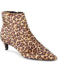 Charles David - Kiss Point-toe Leopard Print Faux Fur Booties - Lyst