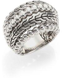 John Hardy - Bedeg Sterling Silver Dome Ring - Lyst