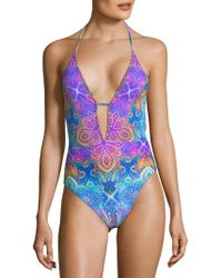 La Blanca - Morocco Plunging One-piece Swimsuit - Lyst