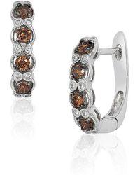 Le Vian - 14k Vanilla Gold Hoop Earrings With Vanilla Diamonds And Chocolate Diamonds - Lyst