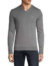 Versace - Logo Wool Sweater - Lyst
