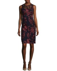 Donna Ricco - Embroidered Mini Dress - Lyst