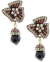 Heidi Daus - Holiday Asymmetric Crystal Drop Earrings - Lyst