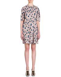 Marni - Floral-print Crewneck Dress - Lyst