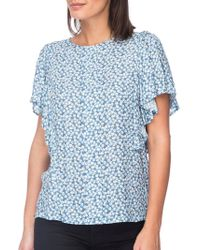 B Collection By Bobeau - Acacia Flutter Sleeve Top - Lyst