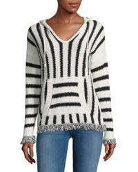 Saks Fifth Avenue - Stripe Knit Hoodie - Lyst