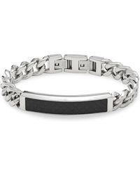 Saks Fifth Avenue | Stainless Steel Foldover Bracelet | Lyst